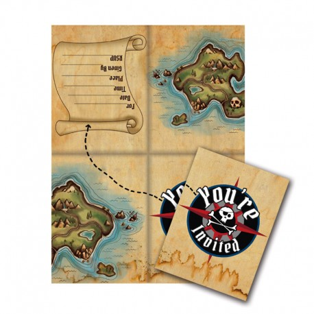 INVITATION CARTE DE PIRATE