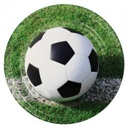 ASSIETTE EN CARTON IMPRIMÉ BALLON DE FOOTBALL