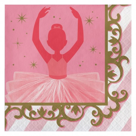SERVIETTE EN PAPIER HAPPY BIRTHDAYDANSEUSE ÉTOILE,