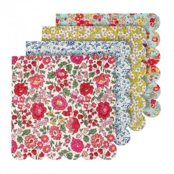 SERVIETTES LIBERTY 4 COULEURS