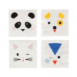 SERVIETTES MINI ANIMAUX