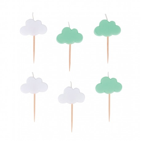 6 BOUGIES NUAGES